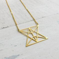 Hourglass Necklace, Geometric Necklace, Statement Necklace, Symbolic pendant, Unisex, Geekery, Icon Necklace, Techy gift, Hourglass pendant