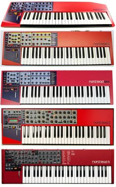 The very first Nord Lead I bought was the Nord Lead Outstanding! I love the Nord Lead 1 and it is probably the best sounding of all the Nord Leads, however, there are TWO MAJOR problems that ul… Music Machine, Drum Machine, Music Production Equipment, Music Sequencer, Foley Sound, Synthesizer Music, Vintage Synth, Techno, Music Studio Room