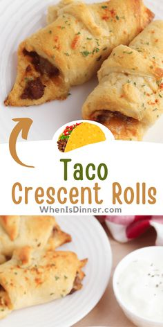 Taco Crescent Rolls, Crescent Roll Recipes, Finger Food Appetizers, Yummy Appetizers, Appetizer Recipes, Recipes Dinner, Beef Dishes, Food Dishes, Main Dishes