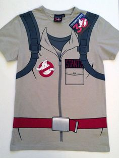Official Mens GHOSTBUSTERS Uniform PROTON PACK T Shirt from PRIMARK #Primark