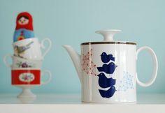 Mediumsized flock of birds teapot by Ninainvorm on Etsy, €44.00