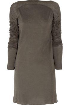 RICK OWENS  Long-sleeved jersey dress