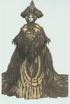 Amidala black travel gown