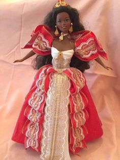 Barbie Doll Happy Holidays 1997 African American #17833 Special Edition AA #Mattel #DollswithClothingAccessories