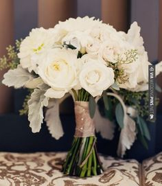 Cool - bouquet     riverland studios   CHECK OUT MORE GREAT WHITE WEDDING IDEAS AT WEDDINGPINS.NET   #weddings #whitewedding #white #thecolorwhite #events #forweddings #ilovewhite #bright #pure #love #romance