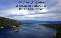 Weekend Getaway: South Lake Tahoe South Lake Tahoe, Weekend Getaways, North America, Road Trip, Mexico, Canada, Usa, Beach, Water