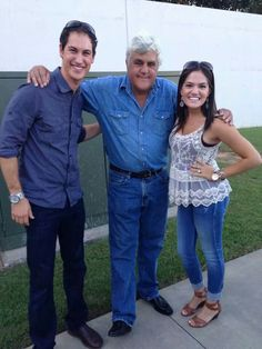 Joey Logano, with his fiancee Brittany and of course, Jay Leno