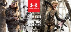 Under Armour New Fall Realtree Hunting Apparel Combines Superior Performance with Style - check out now.