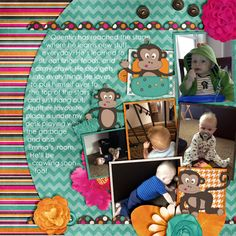 Project 52 Templates by Meagan's Creations available here: http://shop.scrapmatters.com/product.php?productid=13992=21 Little Monkey by Queen Wild Scraps