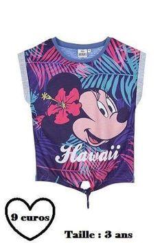T-shirt été filles neuf et certifié Minnie