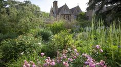 View towards the house from The Old Garden at Hidcote, Gloucestershire, in June