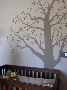 Handpainted mural in nursery