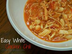 Easy White Chicken Chili Recipe - Only 5 Ingredients  http://www.stockpilingmoms.com/2012/11/easy-white-chicken-chili/