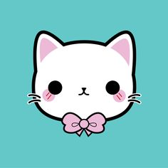 Bow Kitty #kawaii #cute #illustration #kitty #bow #vector #pincinc