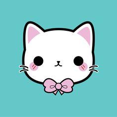 Bow Kitty #kawaii #cute #illustration #kitty #bow #vector #pincinc