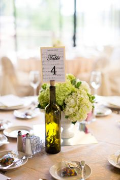 Hydrangea Centerpiece| Blue, White & Green Wedding at The Woodlands Resort via  http://www.weddingcolors.net/ashley-birkirs-wedding-at-the-woodlands-resort.html | Photo by: clairemiranda.com