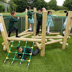 This piece of playground equipment is part of our Pick Up Stick range. It is the smallest version of the range and designed for Early Years - Key Stage 1 and promotes grip, grasp, balance and adventure.