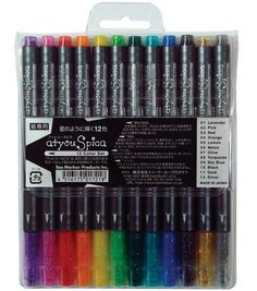 Shop for Copic atyou Spica Glitter Pens A - set a. Get free delivery On EVERYTHING* Overstock - Your Online Scrapbooking Shop! Stylo Art, Made In Japan, Marker Pen, Online Craft Store, Pen Sets, Copic Markers, Copic Pens, Sketch Markers, Gel Pens
