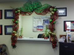 In Lieu Of A Christmas Tree That Took Up Too Much Room In My Office,. Office  DecorationsHoliday DecorationsSeasonal DecorOffice ChristmasChristmas ...