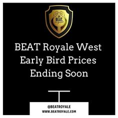 BEAT Royale WEST Early Bird Prices Are Ending Soon!!! BEAT Royale WEST will be July 8-9 at Art Share-LA 801 E 4th Pl Los Angeles CA 90013.  This is going to be an extra special edition of BEAT Royale with more battles showcases and performances PLUS industry talks/panels networking label meetings and more! We'll be announcing more details in the coming days. Until then get your ticket EARLY!! We are expecting a SELL OUT EVENT!!! Beat Royale LA July 8-9 http://ift.tt/1RlR1kK  #BEATRoyaleFEST…
