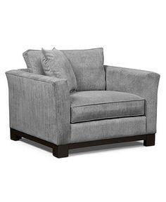 "Kenton Fabric Living Room Chair, 45""W X 38""D X 33""H: Custom Colors - Accent Furniture - furniture - Macy's"