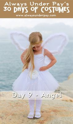 Day 9 – Angel DIY Halloween Costume Tutorial Cheap Easy | Always Under Pay's 30 Days of Costumes