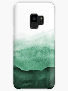 Abstract Emerald Green Samsung Galaxy Phone Case/Skin Cover by NeptuneDesigns. Cases Skins for Sam Phone Cases Samsung Galaxy, Iphone Cases, Antique Mantel, Green Paintings, Phone Cases Marble, Ink Wash, Marble Art, Antique Bottles, Jade