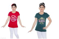 Tshirts Elegant Cotton Kid's Girl T-Shirts Fabric: Cotton Sleeves: Short Sleeves Are Included Sies: Age Group (8 - 9 Years) - 30 in Age Group (9 - 10 Years) - 32 in Age Group (10 - 11 Years) - 32 in Age Group (11 - 12 Years) - 34 in Age Group (12 - 13 Years) - 34 in Age Group (13 - 14 Years) - 36 in Type: Stitched Description: It Has 2 Pieces Of Kid's Girl T-Shirt Country of Origin: India Sizes Available: 8-9 Years, 9-10 Years, 10-11 Years, 11-12 Years, 12-13 Years, 13-14 Years   Catalog Rating: ★4.3 (2657)  Catalog Name: Latest Elegant Cotton Kid's Girl T-Shirts Vol 2 CatalogID_556682 C62-SC1143 Code: 113-3949170-456