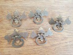SALE! $1.99 LOT OF 6 VINTAGE DRESSER DRAWER PULLS HANDLES- RING BAIL PULL Antique Drawer Pulls, Dresser Drawer Pulls, Dresser Drawers, Vintage Dressers, Ring, Antiques, Antiquities, Drawers, Rings