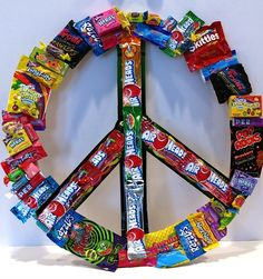 Candy Peace Sign - Large