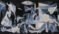 Guernica, Pablo Picasso. I don't know why, but I love this painting.