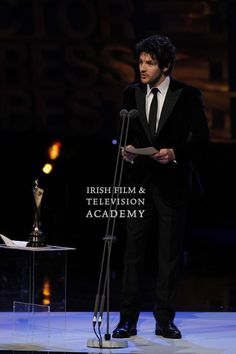 Colin Morgan presenting