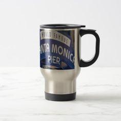 #Santa Monica Venice Beach California Beach Holiday Travel Mug - #travel #accessories