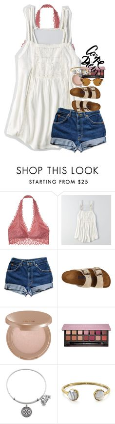"""""""confidence is key."""" by ellaswiftie13 ❤ liked on Polyvore featuring Victoria's Secret, American Eagle Outfitters, Birkenstock, tarte, Anastasia Beverly Hills, Kendra Scott and Ray-Ban"""