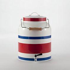 Striped Metal Water Tank Dispenser | World Market