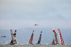 Fleet race during the America's Cup World Series on August 25, 2012 in San Francisco