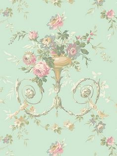 York Wallpaper - Floral Urn Sidewall - AK7466 $30.75 per roll