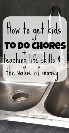 This is good stuff! How to get kids to do chores. Teaching kids the value of money and important life skills.