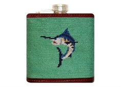 Marlin Needlepoint Flask