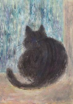 Cat by Japanese illustrator Kanoko Takeuchi