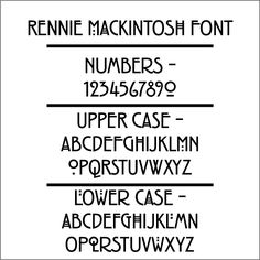 Stickley Font | the stickley address plaque rennie mackintosh font