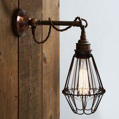Mullan Lighting Design & Manufacturing. EDOM INDUSTRIAL CAGE WALL LIGHT | Industrial Wall Light by Mullan Lighting