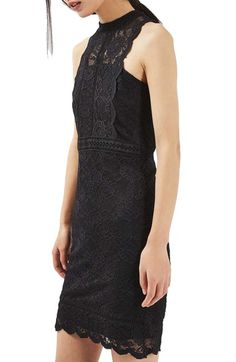 Topshop Mix Lace Body-Con Dress available at #Nordstrom