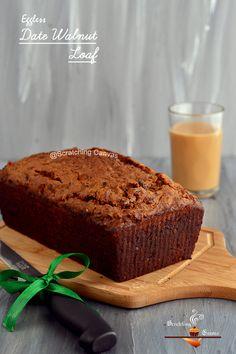 Eggless Date Walnut Loaf | Low Calorie Teacake | Eggless Christmas Cake