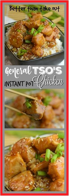 Share with friendsBetter than Take Out Instant Pot General Tso?s Chicken Tonight I was really in the mood for take-out from Chinese but I am trying to not spend a bunch of money before the Holidays. I (Paleo Recipes Instant Pot) Crockpot Recipes, Chicken Recipes, Cooking Recipes, Cooking Tips, Cooking Videos, Recipe Chicken, Cookbook Recipes, Cooking Icon, Cooking Quotes