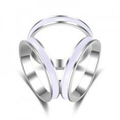 Luxusný trojprstenec na šatku v rôznych farebných prevedeniach Wedding Rings, Engagement Rings, Jewelry, Luxury, Enagement Rings, Jewlery, Bijoux, Schmuck, Wedding Ring