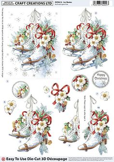 Die Cut Découpage Sheets, Single Designs (1/6) - Craft Creations Online