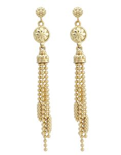LAGOS COVET  Gold Drop Earrings