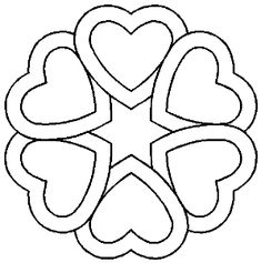Heart Circle Size: or Valentine Coloring Pages, Heart Coloring Pages, Coloring Books, Quilting Stencils, Quilting Designs, Free Motion Quilting, Hand Quilting, Craft Patterns, Quilt Patterns