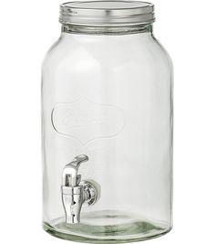 Dat is pas echt genieten in de achtertuin met deze glazen limonadetap, goed voor 3,2 liter.
